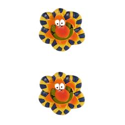 Novelty Button 7/8'' Petal Pushers Orange