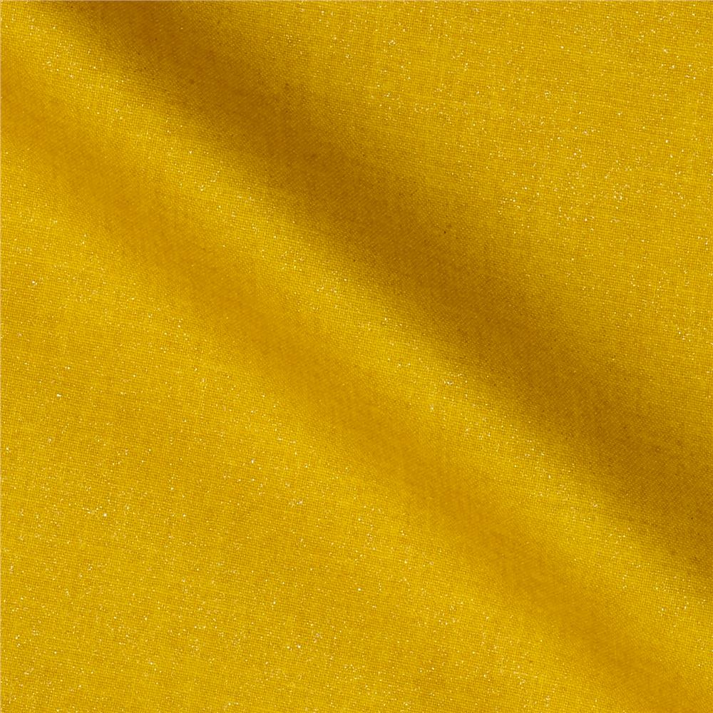 Opalescence metallic yellow discount designer fabric for Decorator fabric