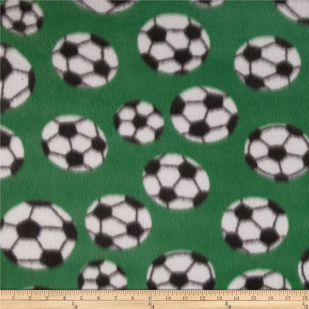 Fleece Prints Soccer Green