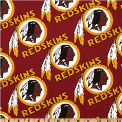NFL Cotton Broadcloth Washington Redskins Maroon/Gold Fabric