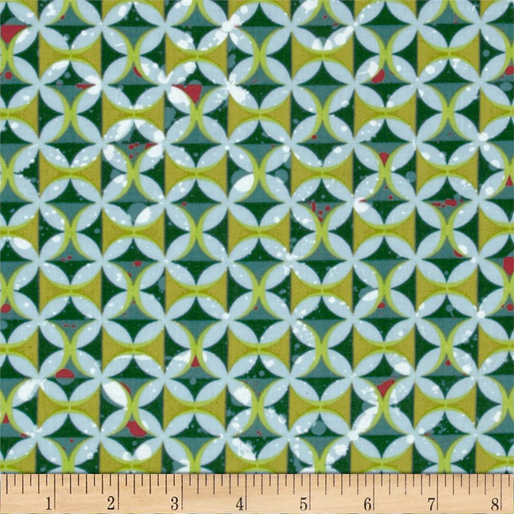 Moda Barcelona Spanish Tiles Teal/Multi