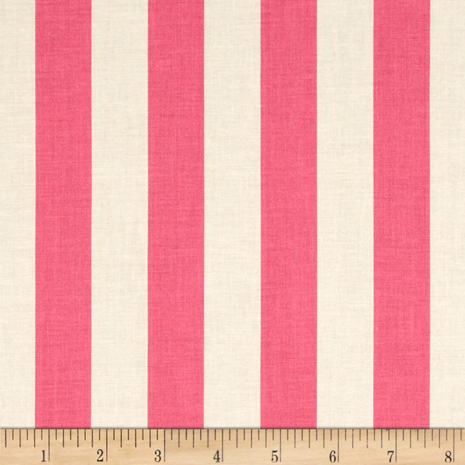 "Riley Blake Le Creme Basics Medium 1"" Stripe Hot Pink/Cream"