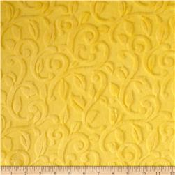 Minky Embossed Vine Cuddle Limon Fabric