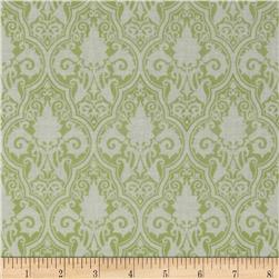 Tanya Whelan Sunshine Roses Damask Green Fabric