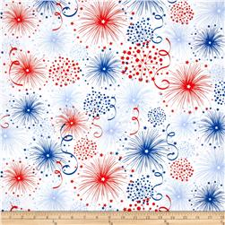 Stars And Stripes Fireworks White