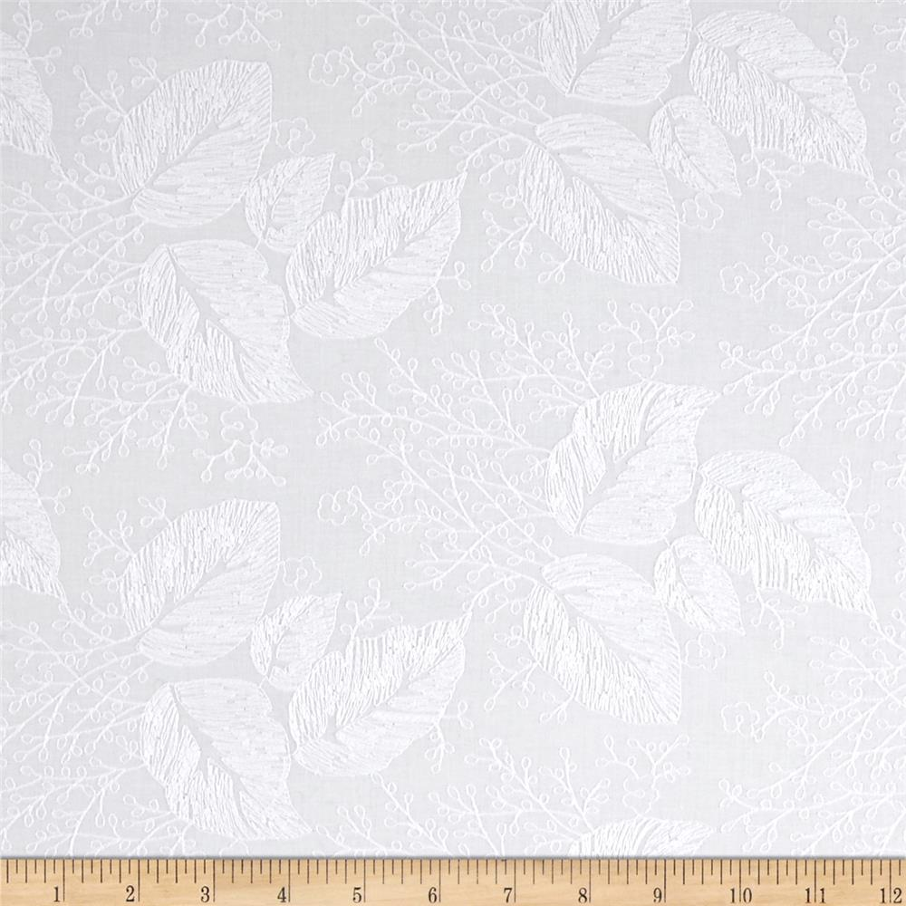 Alice Embroidered Lawn White
