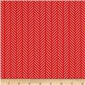 Hello Jane Herringbone Red