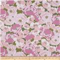 Kaufman Lennox Gardens Cotton Lawn Medium Floral Rose