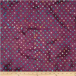 Indian Batik Dots Purple