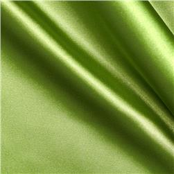 Stretch Charmeuse Satin Dark Lime Fabric