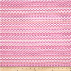 A.E. Nathan Chevron Pink/Yellow/White Fabric