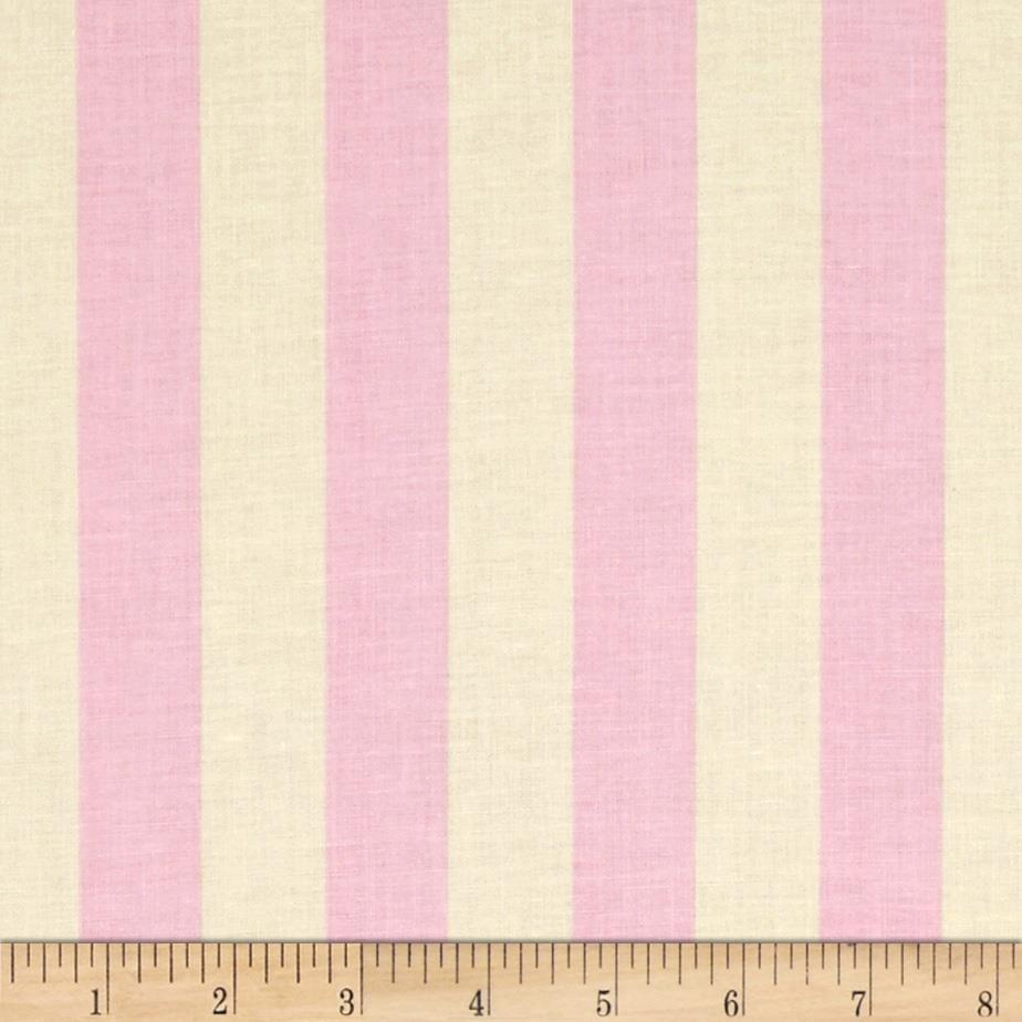 "Riley Blake Le Creme Basics Medium 1"" Stripe Baby Pink/Cream"