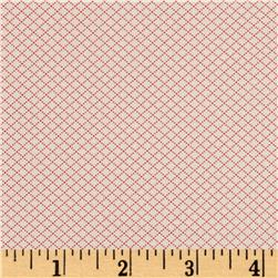 Moda Spring- A-Ling Diamond Grid Strawberry-Cream