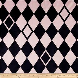 Minky Argyle Light Pink/Black