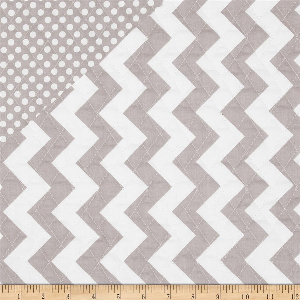 Riley Blake Double Sided Quilted Medium Chevron Grey