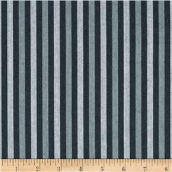 Peppered Cotton Small Stripe Gravel Fabric