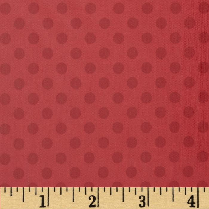 Riley Blake Laminated Cotton Small Dots Tone on Tone Red