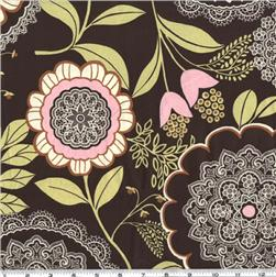 Amy Butler Lotus Lacework Olive Fabric