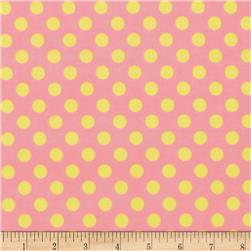 Kimberbell Little One Flannel Too! Flannel Dots Pink Yellow