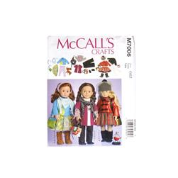 "McCall's Clothes For 18"" Doll Pattern M7006 Size OSZ"