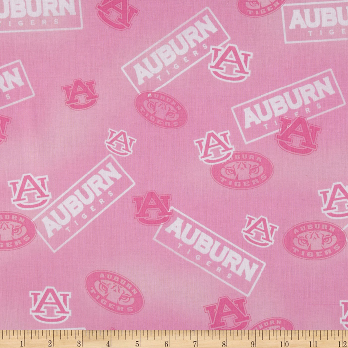 Collegiate Cotton Broadcloth Auburn Pink Fabric