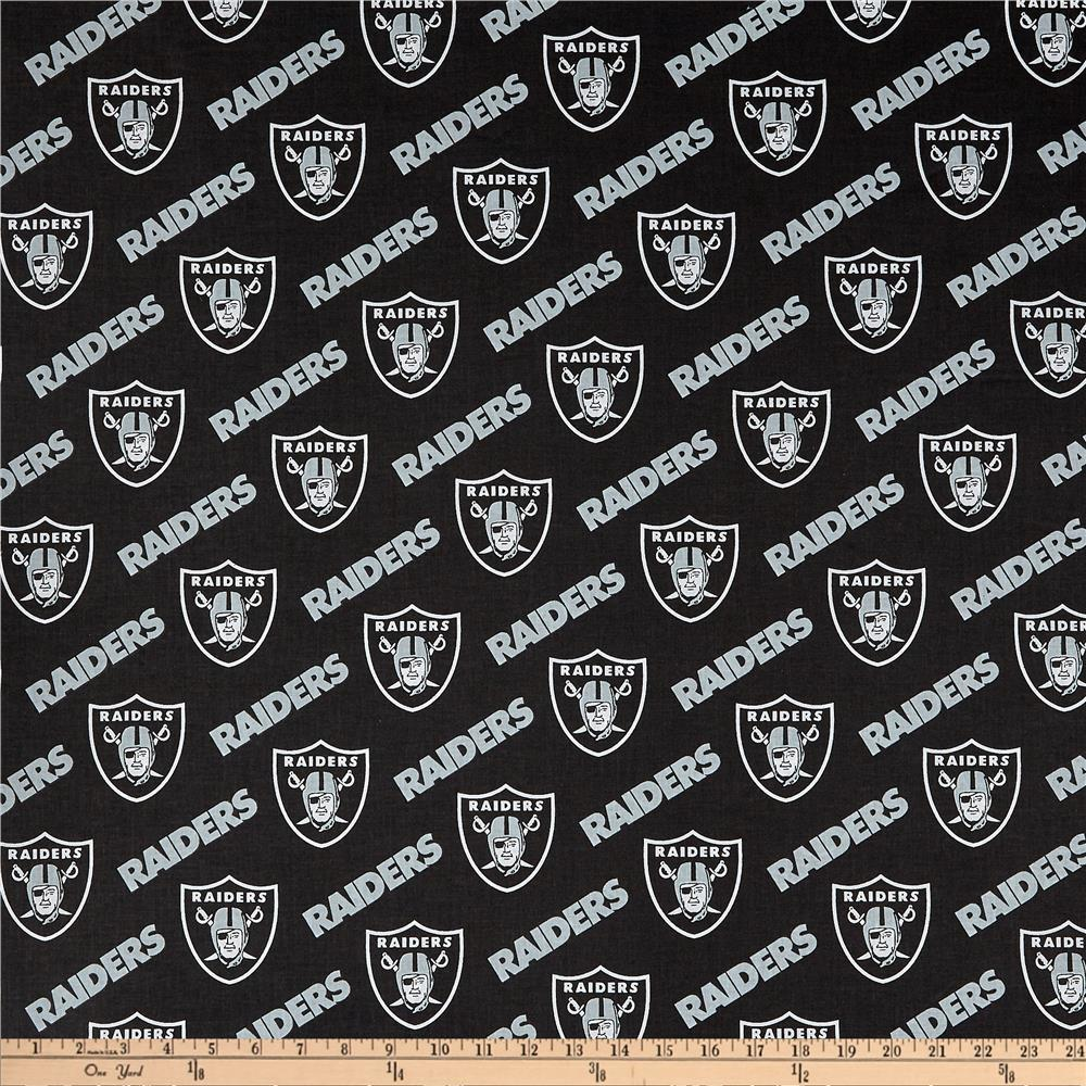 Free Oakland Raiders Wallpapers: NFL Cotton Broadcloth Oakland Raiders Black/Silver