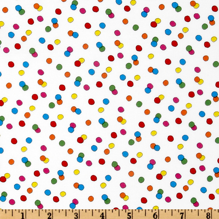 Happiness Is…Peanuts Dots White Fabric