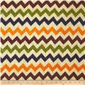 54'' Printed Burlap Chevron Multi
