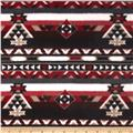 Fleece Azrec Print Black/Red/White