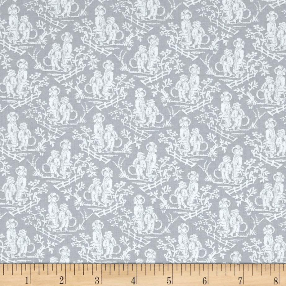 French laundry toile grey discount designer fabric for French toile fabric