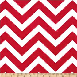 Minky Cuddle Chevron Red/Snow