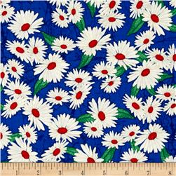 Timeless Treasures Mosaic Garden Daisies Royal