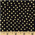 Confetti Sparkle Metallic Dots Black