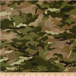 Moda Because of the Brave Camo Burlap