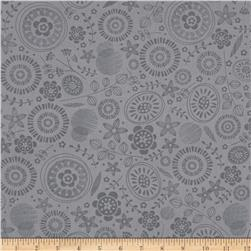 Timeless Treasures Lily Tonal Floral Grey