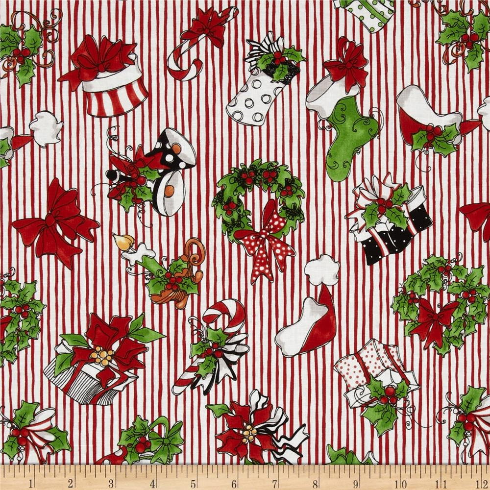 Loralie Fairy Merry Christmas Crowd Red