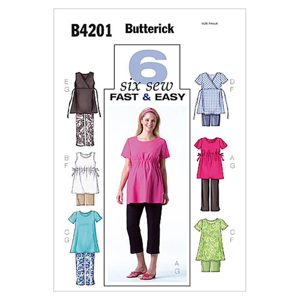 Butterick Misses'/Misses' Petite Maternity Top, Shorts and Pants Pattern B4201 Size 080