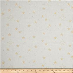 Michael Miller Sarah Jane Magic Metallic Lucky Stars White