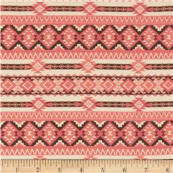 Chiffon Print Aztec Print Orange/White