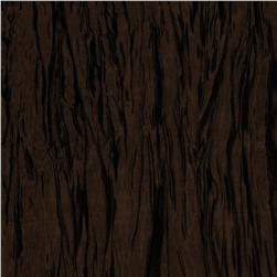 Crushed Taffeta Iridescent Dark Brown Fabric