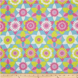 Sweet Lady Jane Daffy Down Dilly Teal Fabric