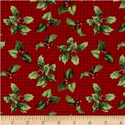 Crimson & Holly Holly Toss Red