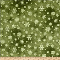 Winter's Friends Snowflake Dark Green