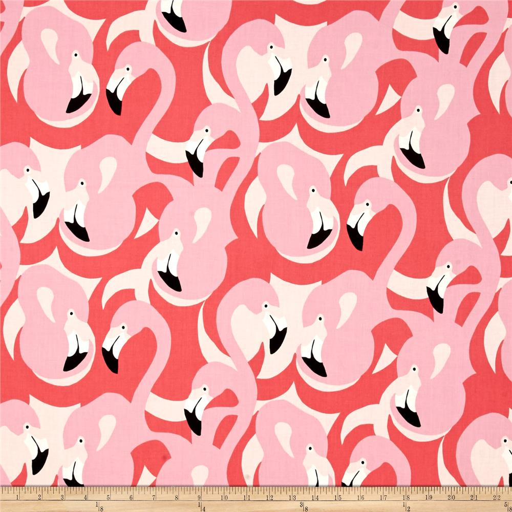 Alexander Henry Boardwalk Flamingo Pink Tonal