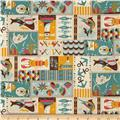 Seven Islands Marine Canvas Patchwork Aqua
