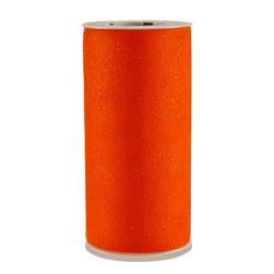 Tulle Spool Stardust Glitter Orange
