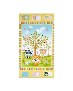 "Woodland Cuties Woodland 23.5"" Panel Yellow/Multi"