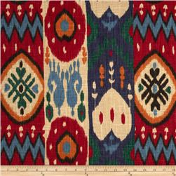 Richloom Kachina Ikat Berry Home Decor Fabric