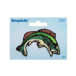 Simplicity Iron On Applique Bass Fish