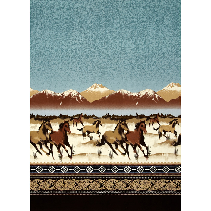Image of Michael Miller Round Up Round Up Border Ranch Fabric